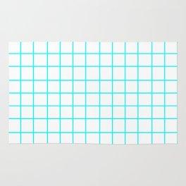 Grid (Aqua Cyan/White) Rug