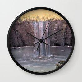 Tranquil Falls Wall Clock