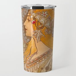 Zodiac by Alphonse Mucha, 1896 Travel Mug