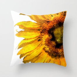 Simply a sunflower Throw Pillow