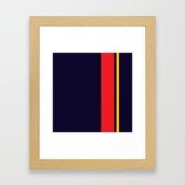 Navy Racer Framed Art Print