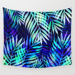 Watercolor palm pattern Wall Tapestry