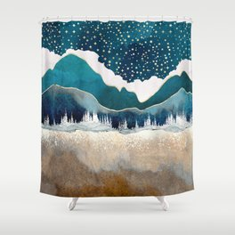 Late Winter Shower Curtain