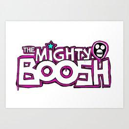 Mighty Boosh Logo, Colourful, Funky, Funny Art Print