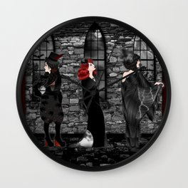 Queens of Goth Wall Clock