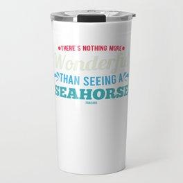Seahorses underwater sea animal Travel Mug