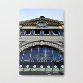 Flinders Street Train Station Metal Print