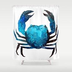 Cerulean blue Crustacean Shower Curtain