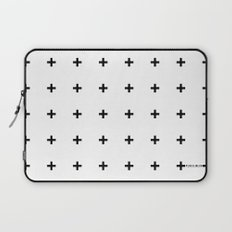 Black Plus on White /// www.pencilmeinstationery.com Laptop Sleeve
