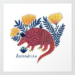 Armadilo Art Print