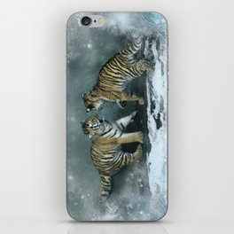 Playful Tiger Cubs iPhone Skin