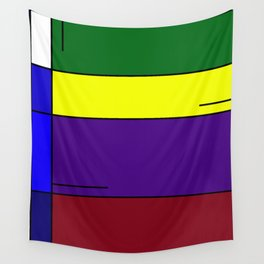Colorful Line Design Wall Tapestry