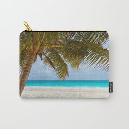 sea landscape with a palm tree Carry-All Pouch