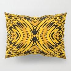 Liquidelica | Orange+Black Pillow Sham