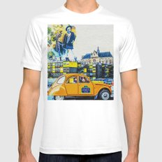 Paris SMALL White Mens Fitted Tee