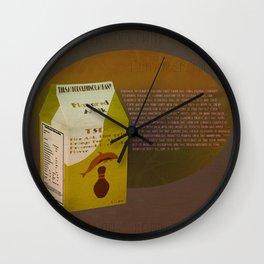 The Smug Dolphin Company Flavored Milk Wall Clock