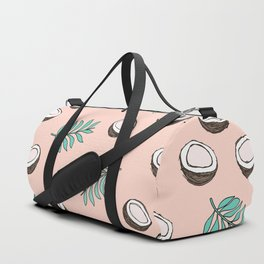 Little coconut garden summer surf palm leaves pink Duffle Bag