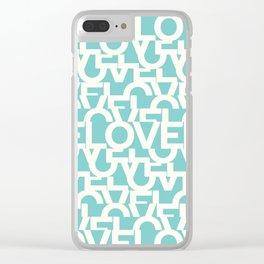 Hidden blue LOVE message Clear iPhone Case