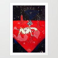 eugenia loli Art Prints featuring space loli ecchi depot 3 by Kira Leigh