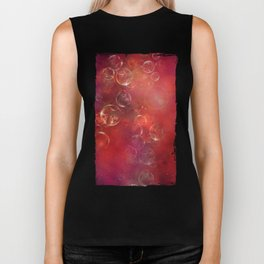 Into the red space surreal bubbles Biker Tank