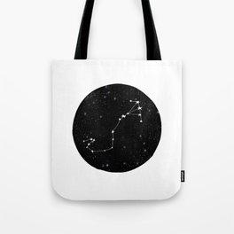 Scorpio black and white star chart zodiac star signs minimal decor Tote Bag