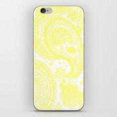 Yellow Paisley iPhone Skin