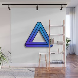 Abstract Geometric - Impossible Triangle Wall Mural