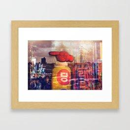 television sky Framed Art Print