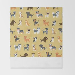 AMERICAN DOGS Throw Blanket
