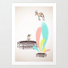 Gazelles Make Bad Friends Art Print