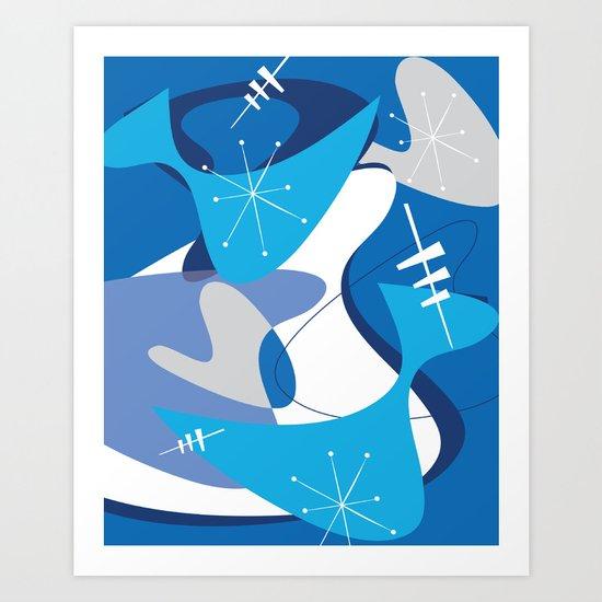 Blue Bam Boom Art Print