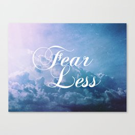 Fearless in a beautiful cloudy sky Canvas Print