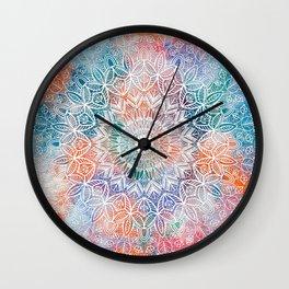 Leaves Mandala Wall Clock