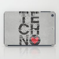 charli xcx iPad Cases featuring I love Techno by Sitchko Igor