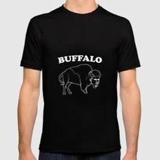 Buffalo White Black Mens Fitted Tee MEDIUM
