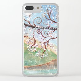 Watercolor Moonlight Illustration Clear iPhone Case