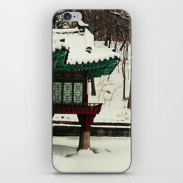Winter Changdeokgung palace, Seoul, Korea iPhone Skin