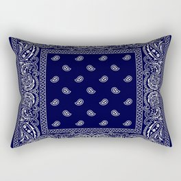 Bandana - Navy Blue - Southwestern Rectangular Pillow