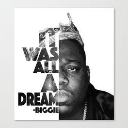 Urban Biggie Smalls Lyrics/Text Font Canvas Print