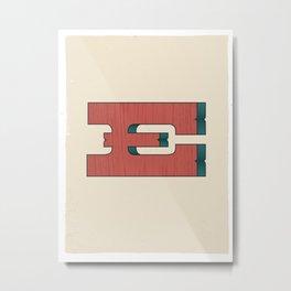 E 001 Metal Print