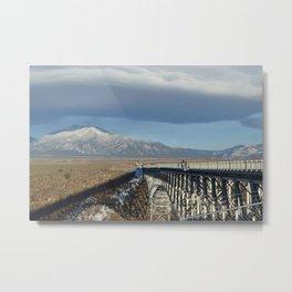 Taos Gorge Bridge Metal Print
