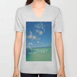 Summer Sandbar Sea Unisex V-Neck