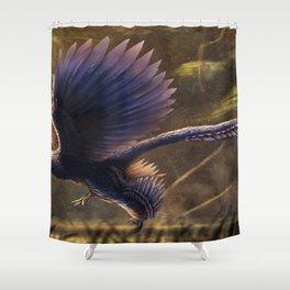 Microraptor Gui Restored Shower Curtain