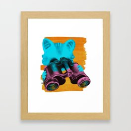 Future belongs to Curious Framed Art Print