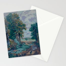 Green Forest by Lika Ramati  Stationery Cards