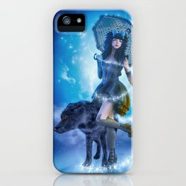 Blue Gothic Night iPhone Case