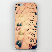 pigs iPhone & iPod Skins featuring Carnie Pigs by maybesparrowphotography