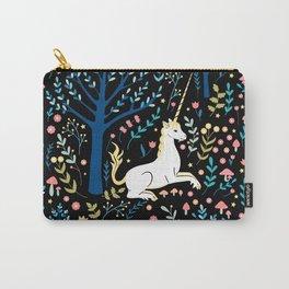 Black unicorn garden Carry-All Pouch