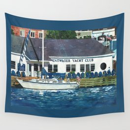 Pentwater Yacht Club Wall Tapestry