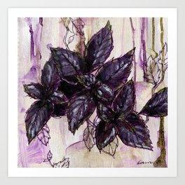 Herb Garden, Purple Basil art Art Print